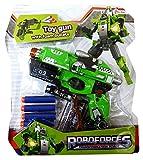 Inception Pro Infinite Pistola Trasformabile - Robot - Mitra - Gioco - Giocattolo - Bambino - Idea Regalo (Verde)