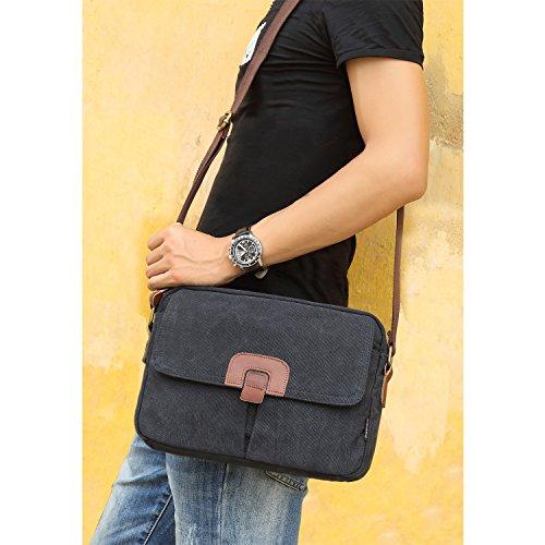 ... Outreo Borsa Tracolla Uomo Borse a Spalla Vintage Borsello Sport  Sacchetto Viaggio Borsetta Tablet Messenger Bag ... 5c3a081f12a