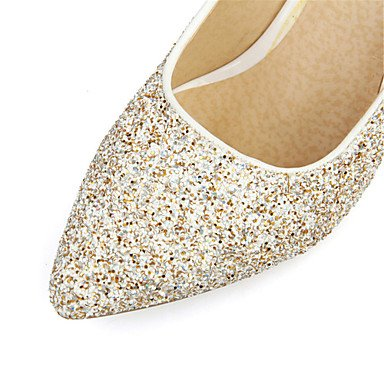 Talloni delle donne Primavera Estate Autunno Inverno Club Scarpe glitter personalizzato Materiali da festa di nozze e abito da sera Stiletto HeelSparkling White