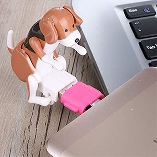 Nette USB Pet Humping Spot Hundespielzeug Kunststoff Eletric Spielzeug Relief Stress Tragbare Vanpower USB Hundespielzeug Geschenk Pet Kit Dekoration Weihnachten Büro Computer -