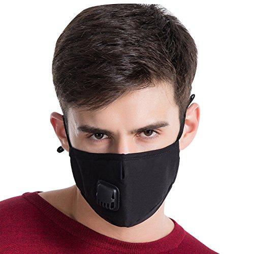 Mascherina Antipolvere, Maschera Sportiva Filtro, Mascherina per la Protezione delle vie Respiratorie, Protezione Respiratoria, per PM2.5, Contro Particelle, Fumo, Polvere, Inquinamento Aria