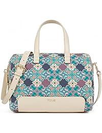 Bolso Bowling Tous de Lona modelo Mossaic color multi para mujer con bolso verano Tous de regalo