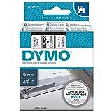 Dymo D1 Standart Etiket Şeridi, 9 mm X 7 m, Şeffaf Zemin Üstüne Siyah Baskı
