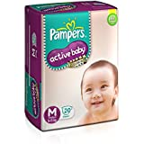 Pampers Active Baby Medium Size Diapers (20 Count)