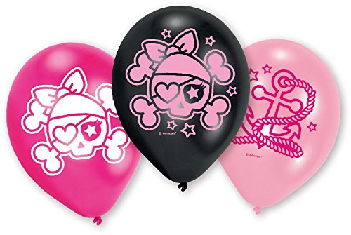 Amscan International 6Piraten Latex Luftballons (Pirate Dress Mädchen Up)