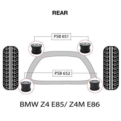 PSB PSB651/PSB652 Bush polyuréthane Z4 E85/Z4M E86 (2003-2009) Kit complet de bagues pour sous-cadre arrière