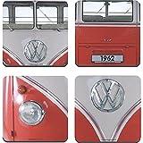 original VW T1 T2 Bus Coaster Fanartikel Bierdeckel 4tlg Set UNTERSETZER BULLI 1962 rot HMB