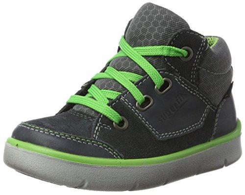 Superfit Jungen Bart Hohe Sneaker, Grau (Charcoal), 33 EU