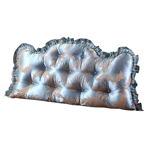 LINANA Cojín del cabecero Almohada de Cama Suave Sofá Individual o Doble Respaldo Grande Cojín de Cintura de Encaje (Color : #7, Size : 180X70X20CM)