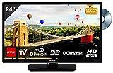 Hitachi - Televisore da 24' con lettore DVD (HD-Ready, DVB-T2, Triple Tuner) HDMI [Classe di efficienza energetica A+]