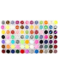 84 Dose Glitterstaub Glitzer Glitter Pailetten Puder Nagel Bling Nail Art
