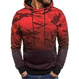 Binggong Herren Shirt,Herren Herbst und Winter Casual Print Langarm-Shirt Hoodie Jacke