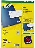 Avery J8659-25 Mini Labels for Inkjet Printers (17.8 x 10 mm Labels, 270 Labels Per A4 Sheet, 25 Sheets) - White