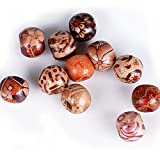 ca. 400 stück Mini Perlen set (Acryl oder Holz) Bastelperlen für Armbänder Acrylperlen zum basteln Holzperlen zum auffädeln Holzkugeln mit Loch Bunt Kugeln (Holz, 9 x 10 mm)