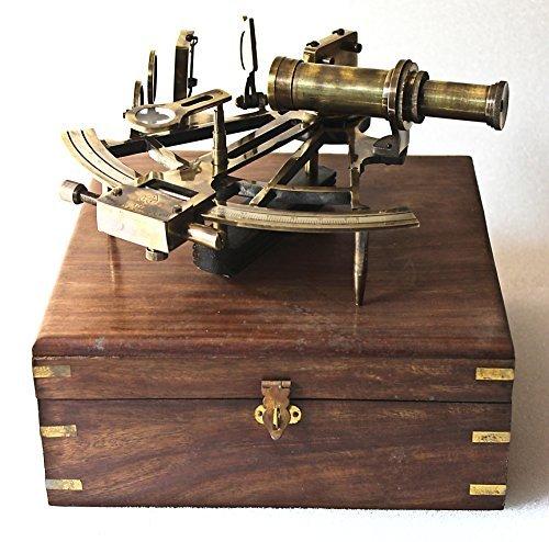 "Telescopio de cobre amarillo Marina Cuero 16/"" Piratas telescopio Dolland Londres En Caja De Madera"