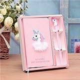 GRT Unicorno NOTEBOOK regalo set con penna, Cover 3d effetto, 80pagine, Ins Style Pink, per la scuola, per bambini, regali, Ladies regali, Stars, Fashion Bloggers
