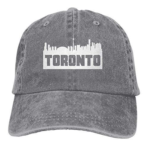 Ingpopol Men Women Adjustable Vintage Jeans Baseball Cap Toronto Ontario Skyline Silhouette Hiphop Cap (Toronto Party Halloween In)