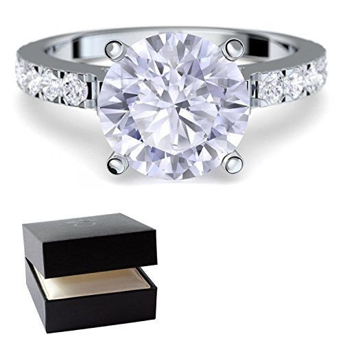 * Verlobungsringe mit Zirkonia Stein *+ LUXUSETUI! Verlobungsring Heiratsantrag Idee Antrag Hochzeit Idee Silberring Ring Silber 925 Zirkonia wie Diamant Diamantring Damenring - AM289 SS925ZIFAZIFA52