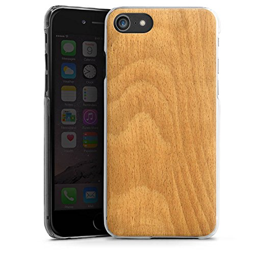 Apple iPhone X Silikon Hülle Case Schutzhülle Holz Look Funier Hard Case transparent
