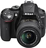 Nikon D5300 SLR-Digitalkamera (24,2 Megapixel, 8,1cm (3,2 Zoll) LCD-Display, Full HD, HDMI, WiFi, GPS, AF-System mit 39 Messfeldern) Kit inkl. AF-S DX 18-55 VR II Objektiv schwarz - 2