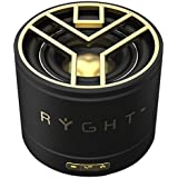 Ryght NEO R481603 Enceinte Bluetooth nomade/son ultra puissant (3 Watts)/petite et légère/grille aérée/sobre/longue autonomie avec jack 3.5mm et câble USB/compatible avec smartphone/tablette/IPod/ordinateur/MP3/MP4/PC Portable Noir/Or