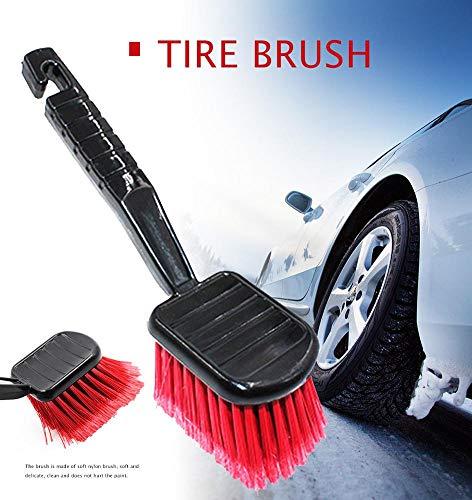 Motorbürste Reifenbürste langes Haar Reinigungsbürste weiche Bürste Autofußpolsterbürste Autoradreinigungsbürste Teppichbürste