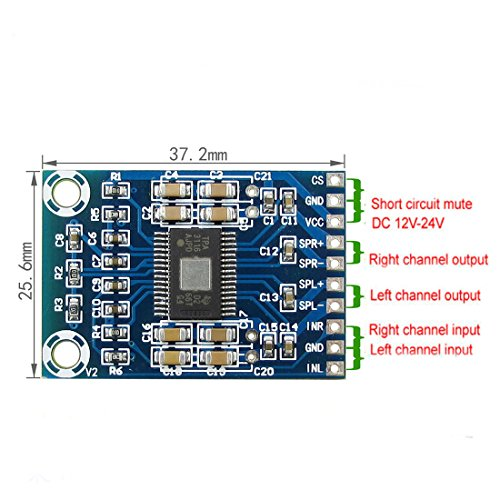 DC 12 V 24 V Mini TPA3116D2 2 x 50 W Amplificador de alimentación de audio digital de clase D Amp