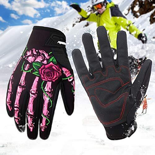 Serired Inverno di guanti sport schermo antivento impermeabile Touch & autunno scheletro ossa guanti moto moto