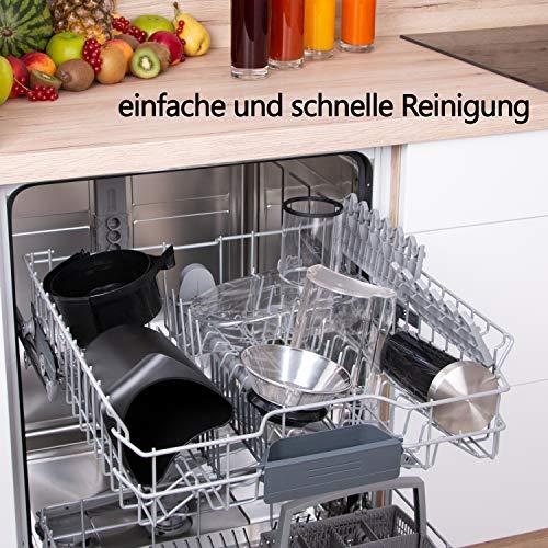 Edelstahl Entsafter für Obst und Gemüse – 800 Watt Bild 3*