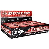 Progress/Red, 12X Squash Balls Dunlop Squash Balls - Pack Of 12