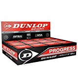 "12x Dunlop Squash Balls ""Progress"" red"