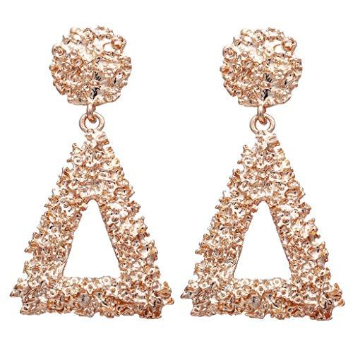 LABIUO Damen Ohrringe Mode Böhmische Kristall Blumen Ohrringe Einfache Große Geometrische Retro Lange Ohrringe(EIN,Freie Größe)