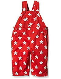 Toby Tiger Twill Red and White Star Dungarees, Salopette Garçon