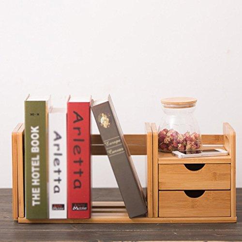MOMO Office Kleine Bücherregale mit Schubladen Mini Creative Desktop Bücherregal Regal, Desktop Bücherregal,Zwei Schubladen 2 Schubladen Bücherregal