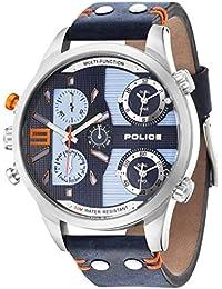 POLICE Herren-Armbanduhr COPPERHEAD Analog Quarz Leder P14374JS-03