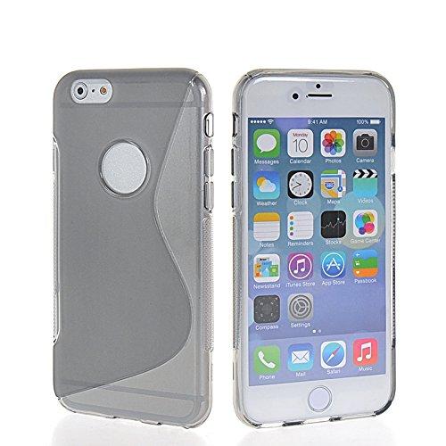 MOONCASE TPU Silicone Housse Coque Etui Gel Case Cover Pour Apple iPhone 6 Plus Gris JauneGris