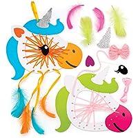 Baker Ross Kits de atrapasueños de unicornios (Paquete de 4) Manualidades para niños