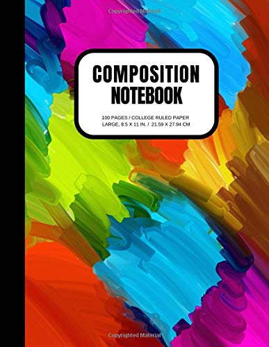 Composition Notebook: 100 Pages, College Ruled, One Subject Daily Journal Notebook (Large, 8.5 x 11 in.)