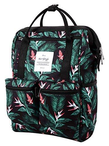 Disa mini zaino sacchetto pannolino borsa viaggio donna | 35x23x15cm | tropicale, nero