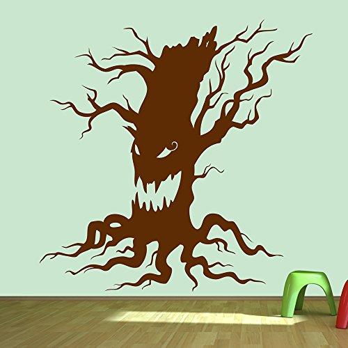 aufkleber Halloween Wandtattoo Trick Treat Kinder Wohnkultur verfügbar in 5 Größen und 25 Farben Klein Elfenbein Beige (5 Halloween-tricks)