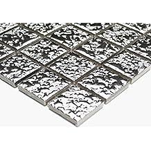 200g Soft-Glassteine Metallic 10x10mm Silber