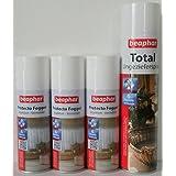 ZooGut´s SPARSET: 3 x Beaphar Protecto Fogger Flohbombe je 200ml plus 1 x Beaphar Total Ungezieferspray 400ml