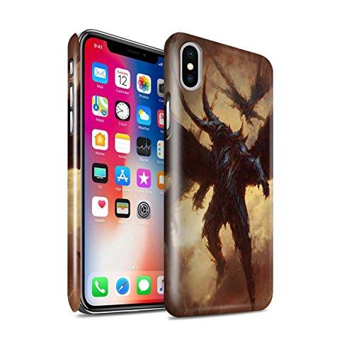 Offiziell Chris Cold Hülle / Glanz Snap-On Case für Apple iPhone X/10 / Ungeheuer/Troll Muster / Wilden Kreaturen Kollektion Flügel von Nox