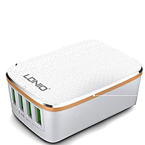 LDNIO Premium 4.4A Rapid Charge 4 USB Port Wall Charger for LG Spirit
