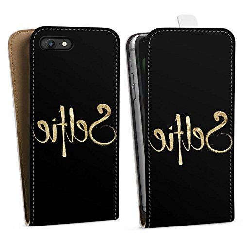 Apple iPhone X Silikon Hülle Case Schutzhülle Selfie Spiegel Gold Downflip Tasche weiß
