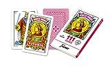 Fournier- Nº 111 Baraja Grande de 40 Cartas Gigantes, Color Rojo (F21597)