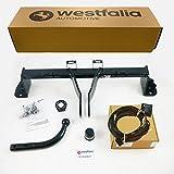 Westfalia Starre Anhängerkupplung für 3er Touring F31 / LIM. F30 (ab BJ 03/14), 4er Cabrio F32 / Coupé F33 / Grand Coupé F 36 (ab BJ 03/14) im Set mit 13-Pol. fzg.-spez E-Satz