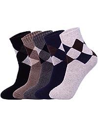 5 Pares de Calcetines Para hombre-Ideales para invierno,tamaño EU 40-45 (5 colores)