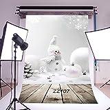 LOVE_BABY minces vinyle studio Snow Flakes Toile de fond CP Prop Photographie de fond photographique 5X7FT/150X210cm ZZ107