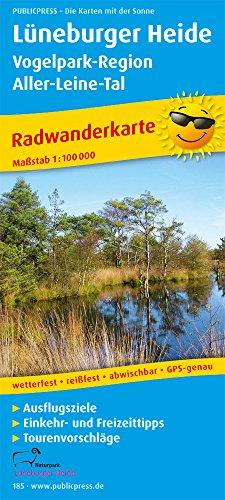 Preisvergleich Produktbild Lüneburger Heide - Vogelpark-Region, Aller-Leine-Tal: Radwanderkarte mit Ausflugszielen, Einkehr- & Freizeittipps, wetterfest, reissfest, abwischbar. 1:100000 (Radkarte / RK)